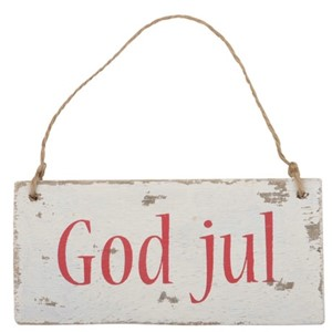 Hengeskilt- god jul