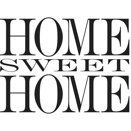 "Wallstickers "" Home sweet home"""