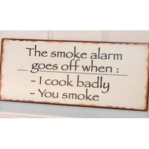Skilt- The smoke alarm
